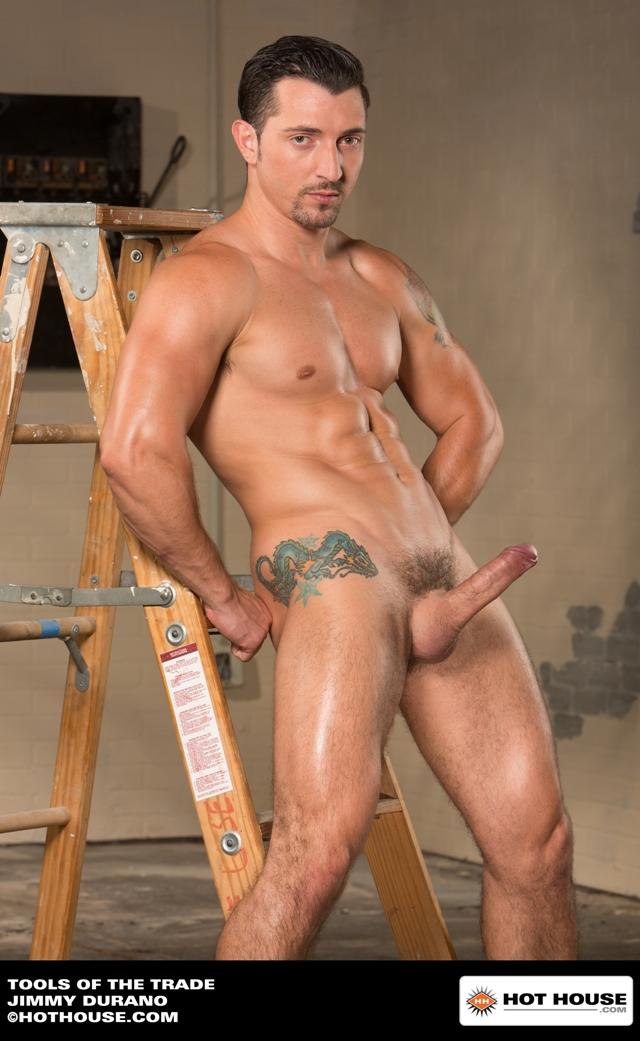 Hairy man nude tattooed