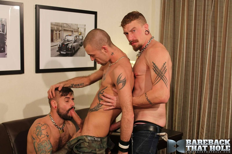 Hardcore bareback threesome Jeff Kendall, Jessy Karson and Jon Shield
