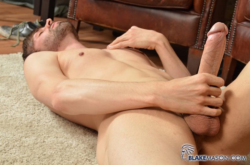 Ryan Mason wanks his 8 inch uncut cock