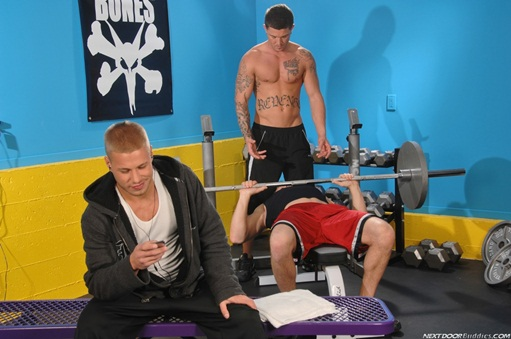 Hot gay trio Sebastian Young, Brody Wilder and Trent Diesel at Next Door Buddies