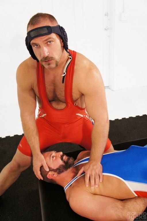 Derrick Hanson and gay wrestler Josh West at Bound Jocks