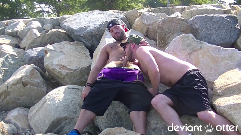 Deviant Otter bareback beach bromance with Xavier Jacobs