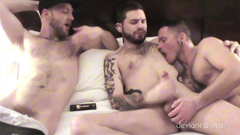 Deviant Otter pure inked and pierced young men filth