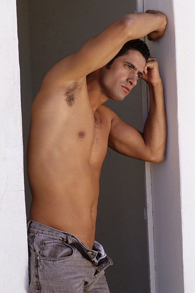 Gay Brazilian porn star Lucas Foz jerks his 9 inch cock at Lucas Kazan
