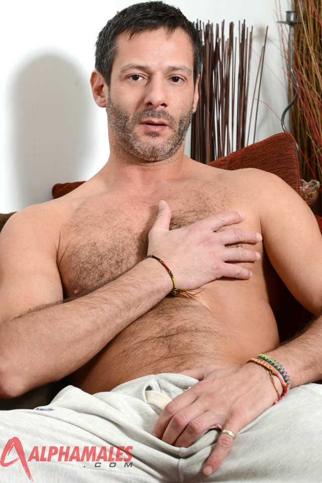 Hairy hunk Antonio Garcia at AlphaMales