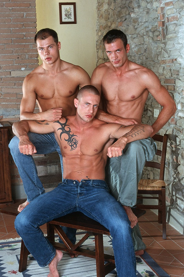 Italian stallion Max and Czech superstar Vilem hot threesome with Giorgio at Lucas Kazan