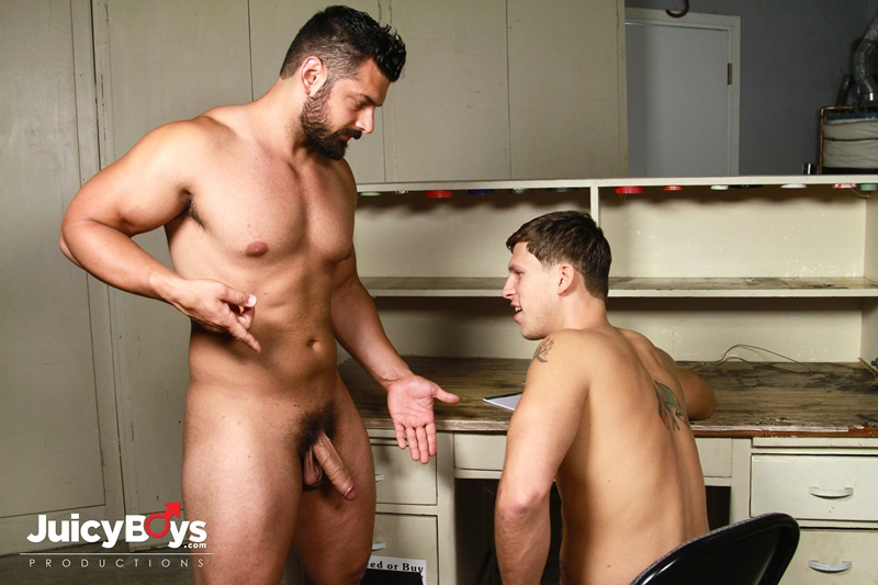 Marcus Ruhl has Roman Todd suck his fat uncut cock