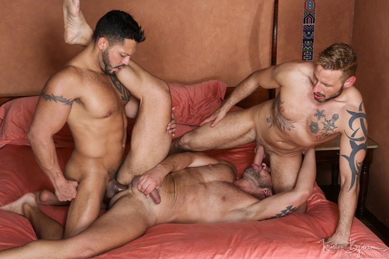 Horny threesome Letterio Amadeo, Viktor Rom and Antonio Miracle hot bareback ass fucking