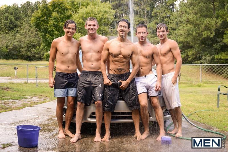 Hot gay ass fucking orgy Rafael Alencar, Dylan Knight, Jack Radley, Zac Stevens, and Johnny Rapid