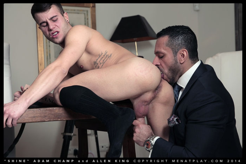 Hairy chested hunk Adam Champ fucks Allen King