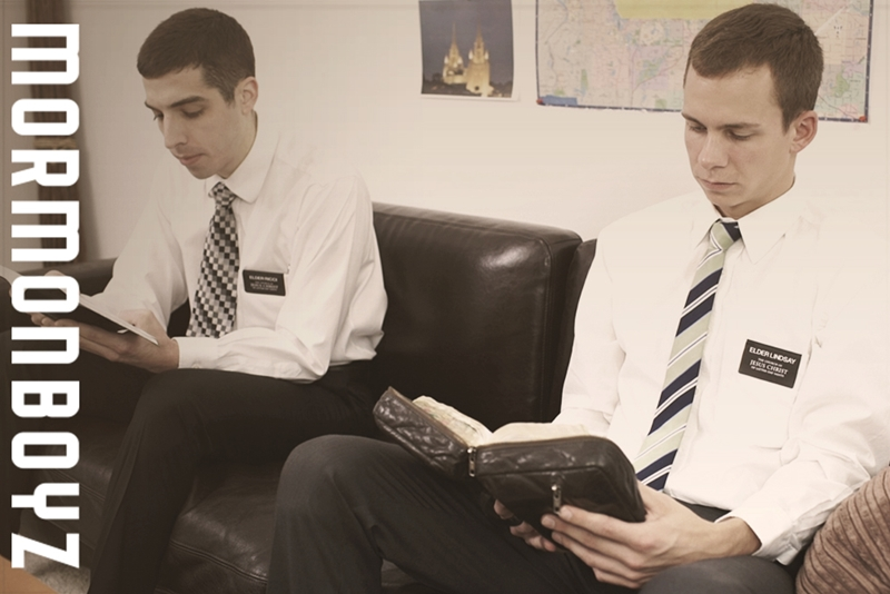 Young naked boys Elder Lindsay and Elder Ricci sucked and fucked by Brother Johnson