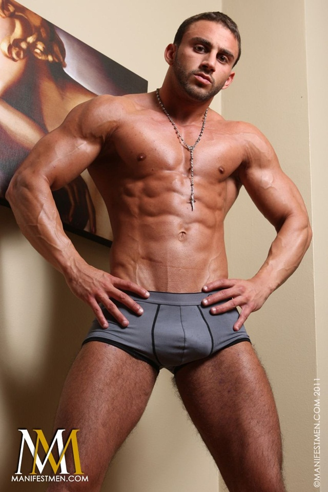 Muscle-jock-strap-Spencer-001-Ripped-Muscle-Hunk-Strips-Naked-and-Strokes-His-Big-Hard-Cock-for-at-Manifest-Men-photo
