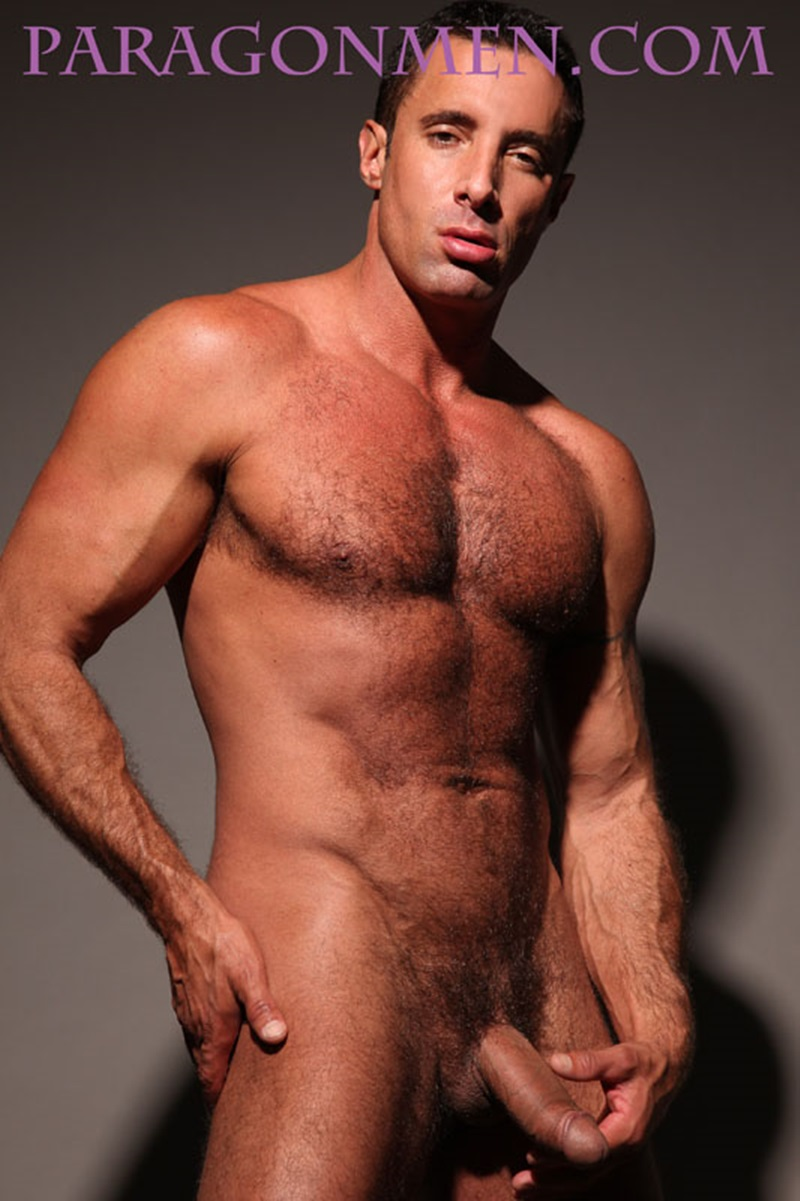Sexy hairy chested hunk Nick Capra returns to gay porn