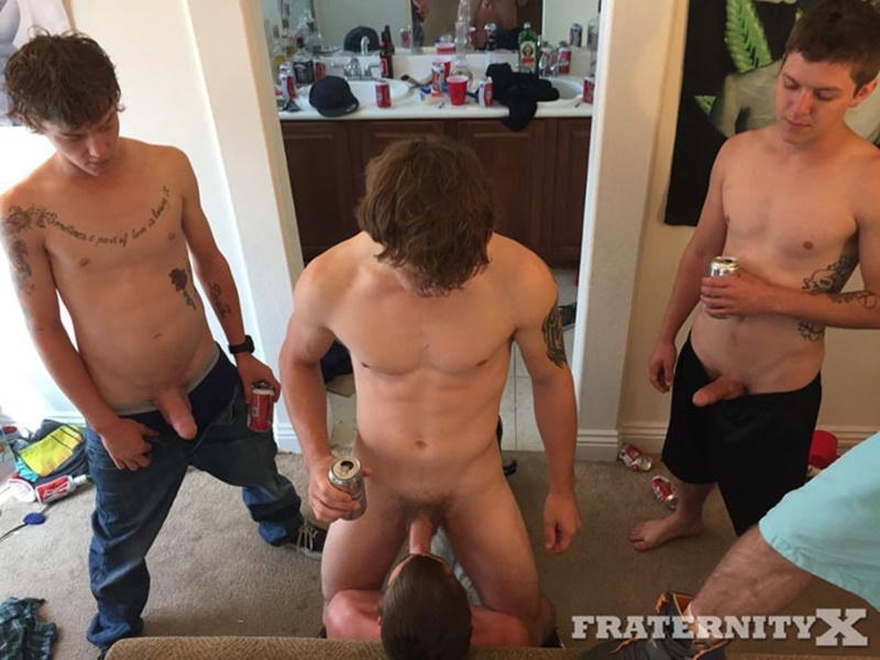 Frat Bro Gang Bang (Donny Forza, Damion and Alex Tag-Team Tyler Sky) (Bareback)