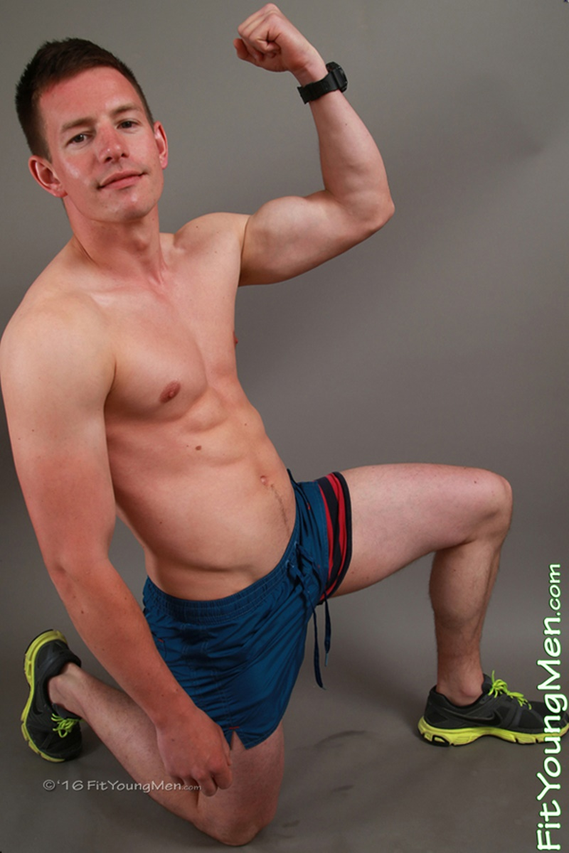 Sexy young 25 year old ripped muscle boy Jamie Sherwood strips down to his sexy underwear