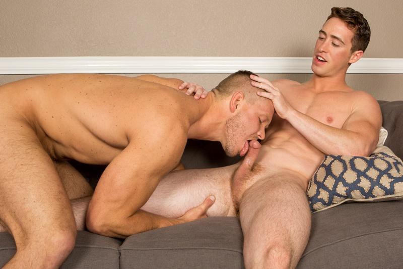 Sean Cody Elliot and Rusty bareback big cock raw ass fucking