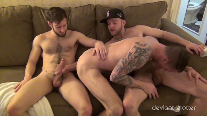 Deviant Otter, Max Cameron and Bravo threesome
