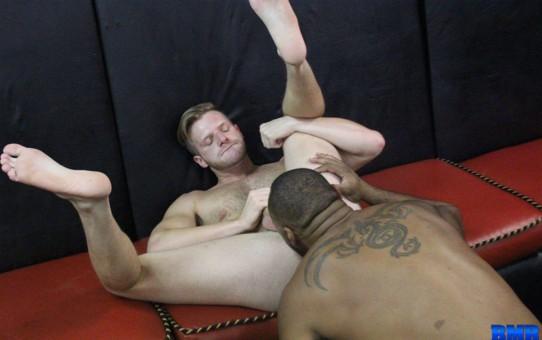 Slut bottom Brian Bonds submits to Ray Diesel's huge 10 inch black dick