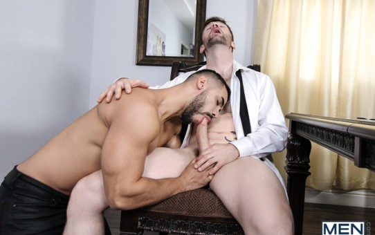 Dennis West's tight asshole obliterated by Arad Winwin's huge cock