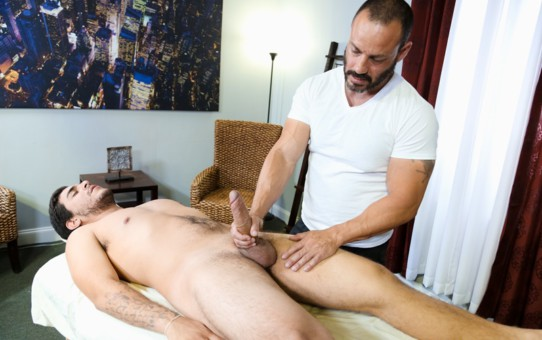 Joey Doves rides Van Wilder's enormous cock taking the full dick length like a champ