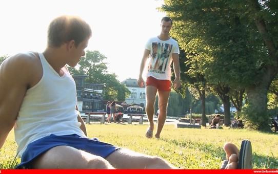 Sexy young nude dudes Hoyt Kogan and Orri Aasen hardcore barebacking