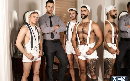 Hardcore ass fucking orgy with Teddy Torres, Beau Reed, Ethan Chase and William Sawyer