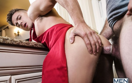 Jake Porter takes a big one up his puckered hole from stud Jaxton Wheeler