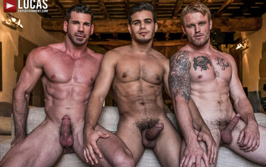 Barebacking ass fucking trio Rico Marlon, Shawn Reeve and Billy Santoro in Must Seed TV