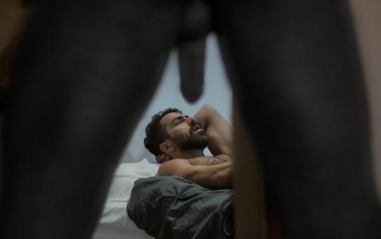 Adam Ramzi's hairy asshole fucked by Noah Donovan's huge black cock