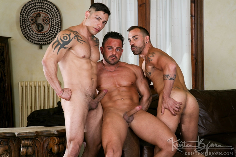 kristen bjorn  Julio Rey, Alex Brando and Mario Torres
