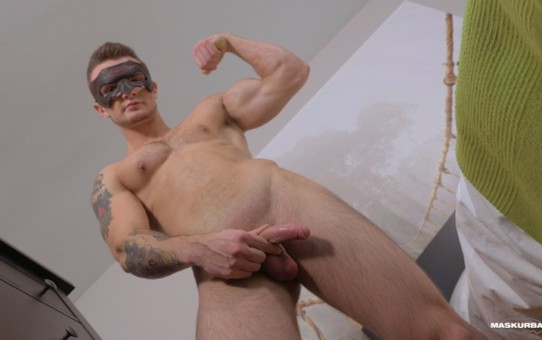 Sexy ripped young dudes Jackson Stock mounts a fucks the Flesh Light till he blows his load