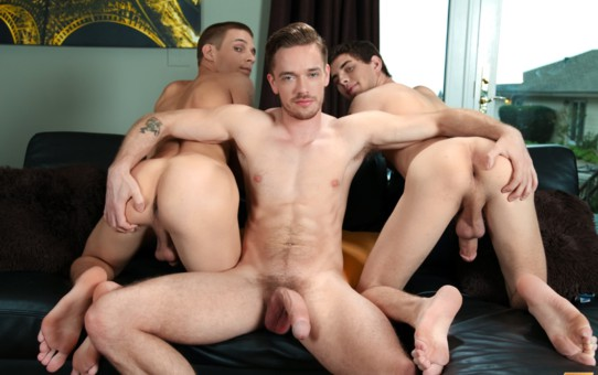 Hot twink threesome Trent Ferris, Sam Truitt and Lucas Knight