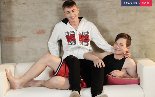 Sexy naked teenboy Casey Flip fuck Connor Rex's tight smooth ass with his huge twink dick