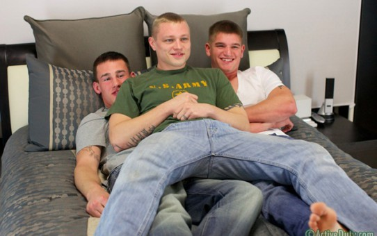 Active Duty: you recruits Axl, Boyd and Chaz hot threesome