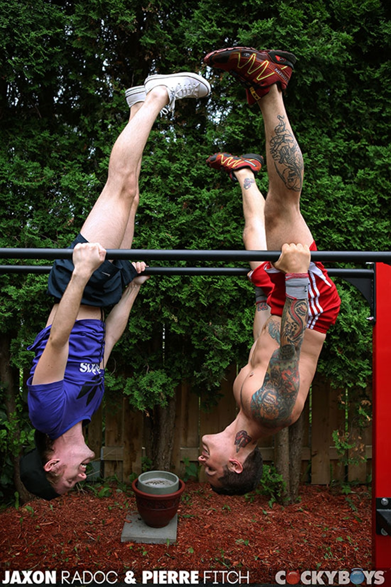 cocky boys  Pierre Fitch and Jaxon Radoc