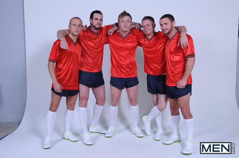 men  Colt Rivers, Phenix Saint, Rob Ryder, Steve Stiffer and Tom Faulk