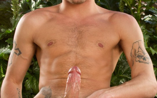Tattooed Ty Roderick and bearded jock Jecht Parker jacking his boner as he gets fucked