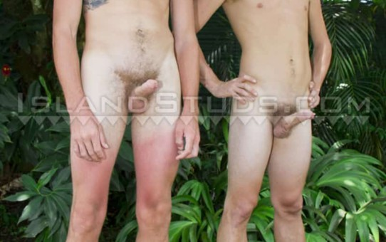 Hung blond hippy farmer bros Christian Josh and Snowboarder Tree are back in hot duo action