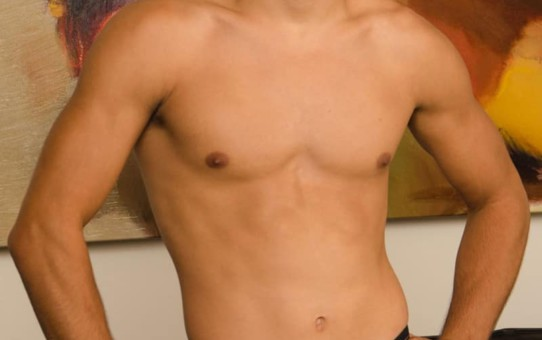 Gorgeous tanned 24 year old straight guy Miguel loves the camera as he jerks out a huge load of cum
