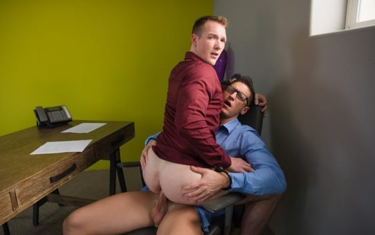 Dalton Riley plunges his rock hard cock bareback in Jackson Cooper's waiting butt hole