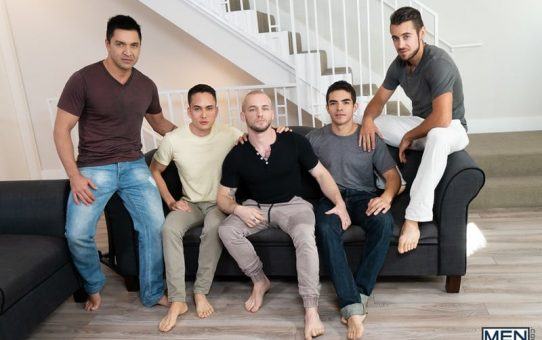 Gay group orgy with Cazden Hunter, Dante Colle, Colton Grey, Dominic Pacifico and Marcus Tresor