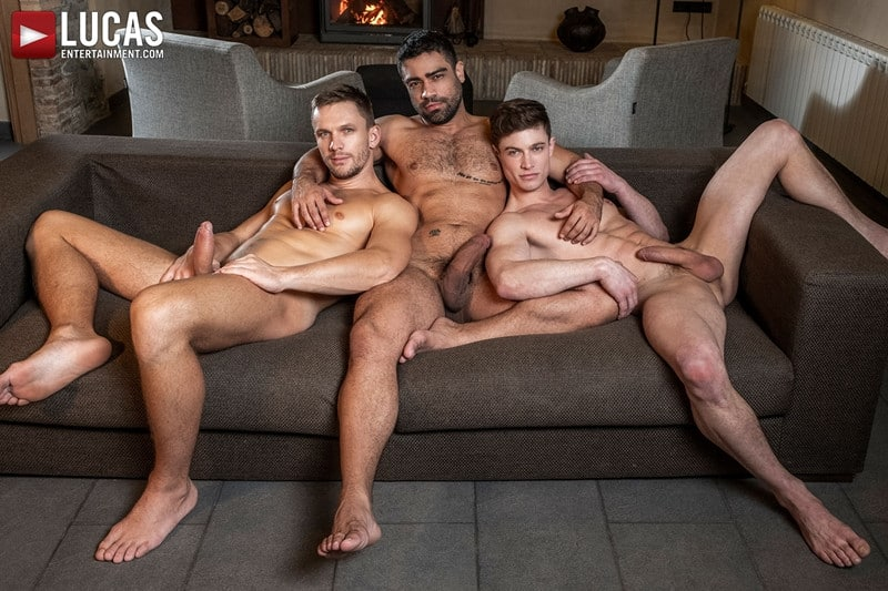 Men for Men Blog Gay-Porn-Pics-008-Andrey-Vic-Wagner-Vittoria-Ruslan-Angelo-Hot-gay-threesome-huge-dicks-double-fuck-hot-muscle-ass-LucasEntertainment Hot gay threesome Andrey Vic and Wagner Vittoria's huge dicks double-fuck Ruslan Angelo's hot muscle ass Lucas Entertainment