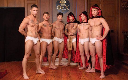 Hot anal fuck fest Devin Franco, Trevor Miller, Nic Sahara, Zak Bishop and Colton Reece hardcore orgy